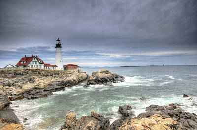 Coast Photograph - Stormy Skies Over Portland Head by Donna Doherty