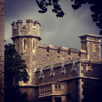 London Photograph - Stormy Skies Over The Tower Of London by Heidi Hermes