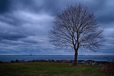 Photograph - Stormy Skies Over Whaleback Light. by Jeff Sinon