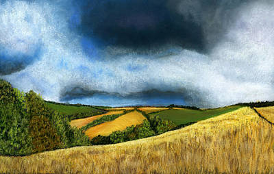 Thunder Painting - Stormy Skies by Sarah Dowson