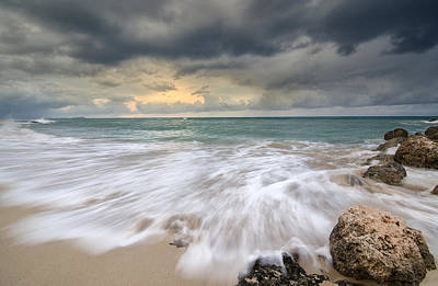 Photograph - Stormy Sky And Ocean Sunrise by Tin Lung Chao