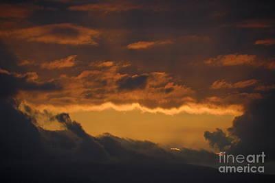 Stormy Sky At Sunset Art Print