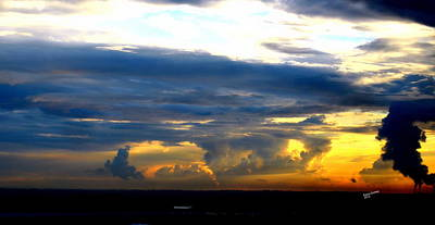 Stormy Sky Art Print by Karen Kersey