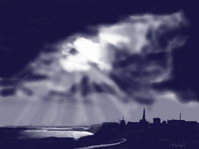 Painting - Stormy Sky Over Bridlington by Glenn Marshall