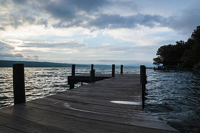 Stormy Sky Over Seneca Lake Art Print