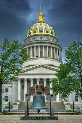 Photograph - Stormy Sky Over The Capitol by Mary Almond