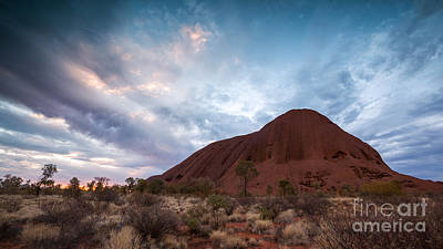 Uluru Photograph - Stormy Sky Over Uluru by Matteo Colombo