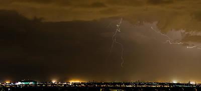 Lightnings Of Arizona Photograph - Stormy Stadium by Cory  Stangle