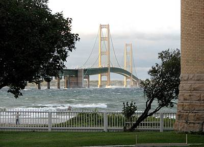 Photograph - Stormy Straits Of Mackinac 2 by Keith Stokes