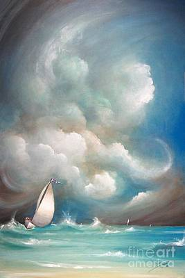 Painting - Stormy Sunday by Sgn