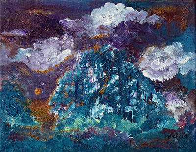 Painting - Stormy Sundown by Donna Blackhall