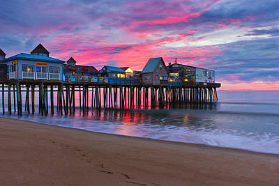 Old Orchard Beach Photograph - Stormy Sunrise At Oob by Benjamin Williamson