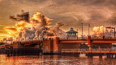 Photograph - Stormy Sunrise Lantana Drawbridge by Don Durfee