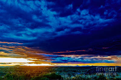 Photograph - Stormy Sunset by Charles Muhle