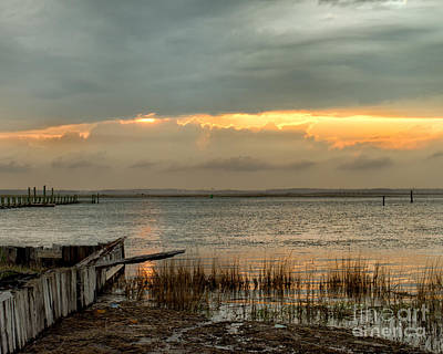 Stormy Sunset Art Print by Dale Nelson