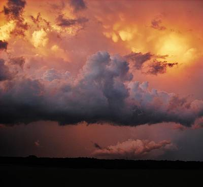 Photograph - Stormy Sunset by Ed Sweeney