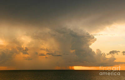 Stormy Sunset Art Print by Mariarosa Rockefeller