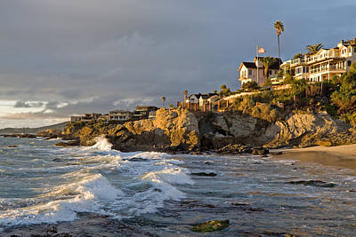 Photograph - Stormy Surf Moss Point Laguna Beach by Cliff Wassmann