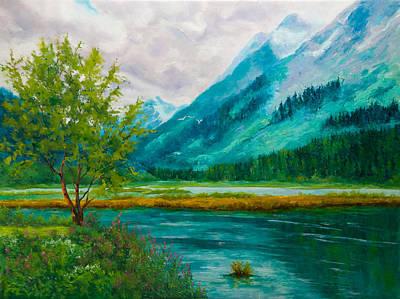 Stormy Tern Lake Original by Dan Twitchell