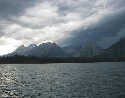 Photograph - Stormy Tetons by Joe Duket