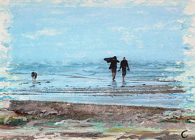 Stormy Walk At Grenen Art Print by Cecilia Uneland