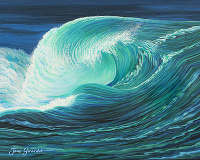 Painting - Stormy Wave by Jane Girardot