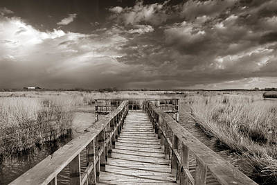 Stormy Weather At The Lake Vintage Print by Guido Montanes Castillo