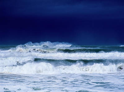 Stormy Weather Generates Heavy Surf Art Print