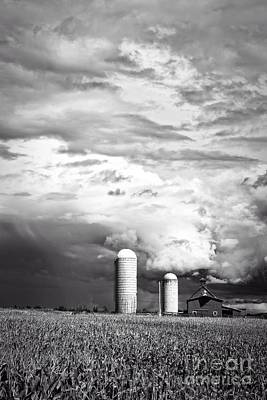 Cornfields Photograph - Stormy Weather On The Farm by Edward Fielding