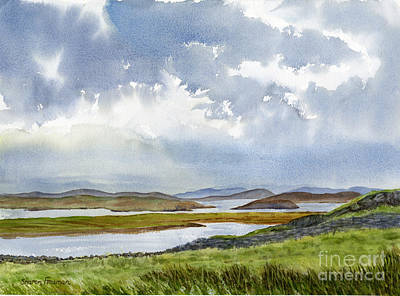 Scotland Painting - Stormy Weather Outer Islands by Sharon Freeman