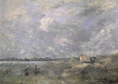 Jean-baptiste Art Painting - Stormy Weather, Pas De Calais by Jean Baptiste Camille Corot