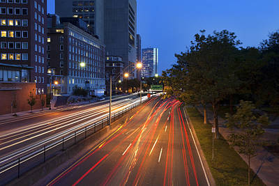 Streetlight Photograph - Storrow Drive  by Eric Gendron