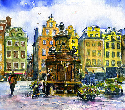 Painting - Stortorget by John D Benson