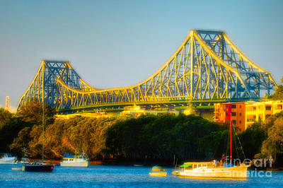 Photograph - Story Bridge And The Brisbane River - Brisbane - Queensland - Australia by David Hill