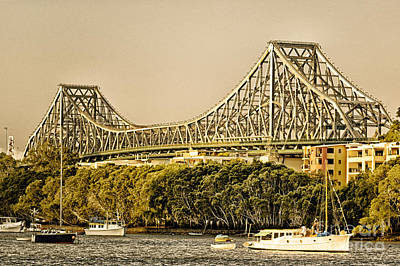 Photograph - Story Bridge - Icon Of Brisbane Australia by David Hill