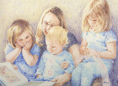 Painting - Story Time by Betsy W Gray