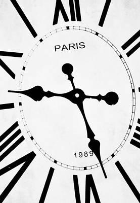 Clock Art Print by Chastity Hoff