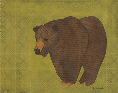 Mixed Media - Storybook Bear by Brian Fuchs