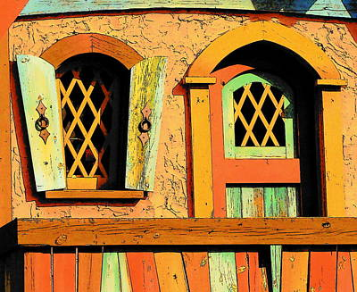Storybook Window And Door Art Print by Rodney Lee Williams