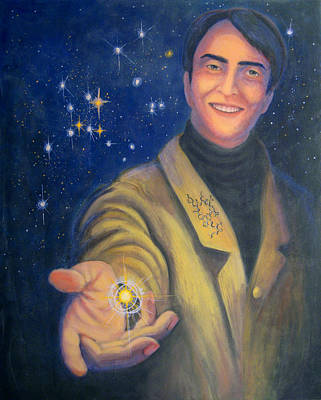 Painting - Storyteller Of Stars - Artwork For The Science Tarot by Janelle Schneider
