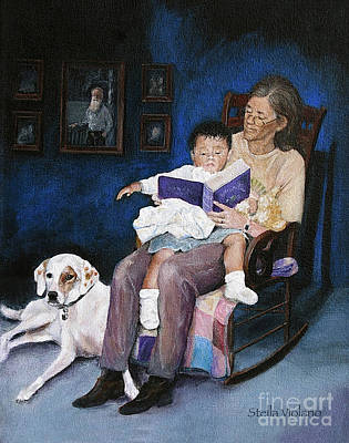 Painting - Storytime by Stella Violano