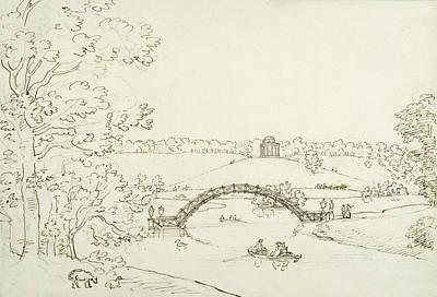 Page Drawing - Stourhead by Coplestone Warre Bampfylde