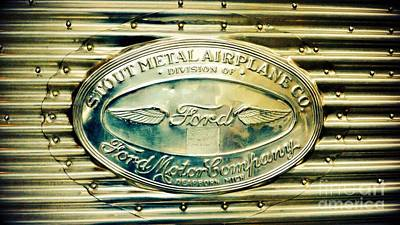 Photograph - Stout Metal Airplane Co. Emblem by Susan Garren