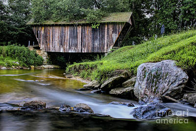 Photograph - Stovall Mill Bridge by Barbara Bowen