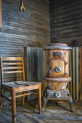 Old West Photograph - Stove And Chair In Tonopah by Janis Knight