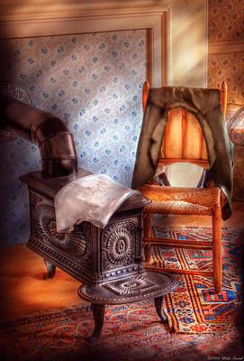Photograph - Stove - The Stove And The Chair  by Mike Savad