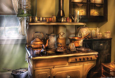 Stove - What's For Dinner Art Print by Mike Savad
