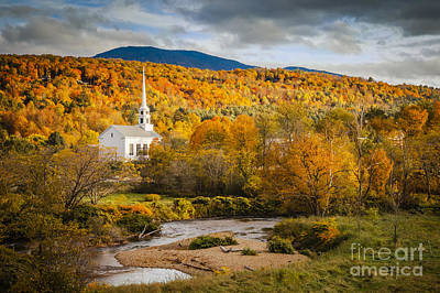 Photograph - Stowe Church At Sunset by Brian Jannsen