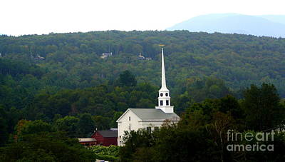 Art Print featuring the photograph Stowe Community Church by Patti Whitten