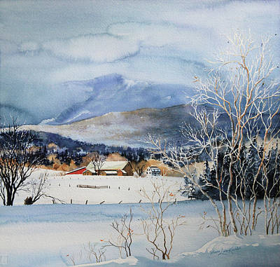 Winter Scene For Sale Painting - Stowe Valley Farm by Hanne Lore Koehler